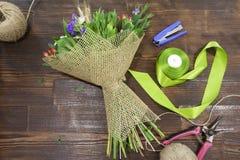 Flower workshop Stock Image