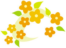 Flower wreath – vector illustration Stock Photos