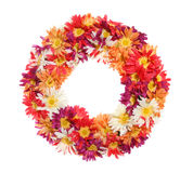 Flower Wreath. A colorful flower wreath isolated over a white background Royalty Free Stock Photos