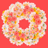 Flower wreath collage Royalty Free Stock Photography