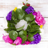 Flower wreath Stock Images