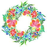 Flower wreath royalty free illustration