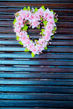 Flower wreath in heart shape Stock Images