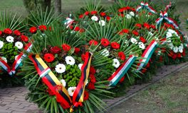 Flower wreath.Hungarian independence day. royalty free illustration