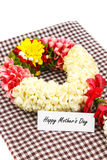 Flower wreath  for mother on Mothers Day Royalty Free Stock Images