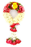 Flower wreath  for mother on white background. Flower wreath  for mother on mothers day on white background Royalty Free Stock Images