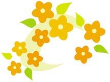 Flower wreath – vector illustration Stock Photos