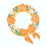 Flower wreath. S vector illustration eps 8 without gradients vector illustration