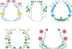 Flower wreaths Stock Image