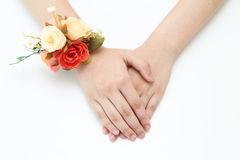 Flower wrist on hand sign Stock Image