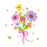 Flower For You Cartoon Lovely Vector Royalty Free Stock Image