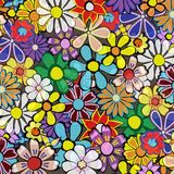 Flower2. Abstract background with retro flowers vector illustration