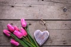Flowera et coeur décoratif Photos stock