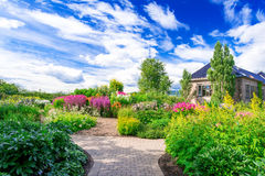 Flowerbed на ботаническом саде Стоковые Изображения