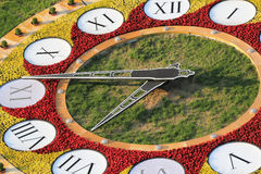 Flowerbed clock Royalty Free Stock Image
