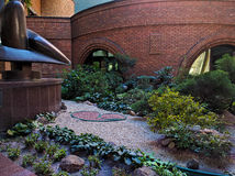 Flowerbed in the courtyard of the business center.  Stock Photos