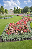 Flowerbed on a large country estate Royalty Free Stock Photography