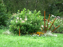Flowerbed in a park Royalty Free Stock Photography