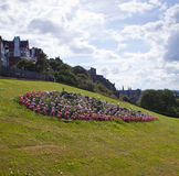 Flowerbed in Princes Street Gardens in Edinburgh Stock Photography