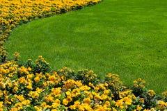 Flowerbed und Rasen Lizenzfreie Stockfotografie