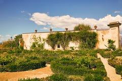 Flowerbeds στους κήπους Boboli στη Φλωρεντία, Ιταλία στοκ εικόνα