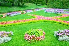 flowerbeds royalty-vrije stock afbeeldingen