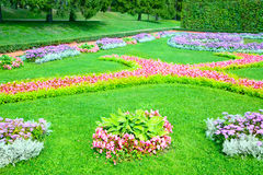 Flowerbeds Royalty Free Stock Images