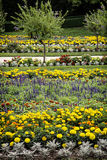 Flowerbeds in the castle garden Stock Photography