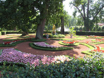 Flowerbeds Royalty Free Stock Photo
