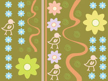 Flowerbird pattern Stock Image