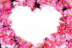 Flowerborder in a shape of a heart Royalty Free Stock Image