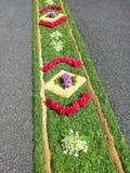 Flowercarpet. Corpus Christi procession Stock Images