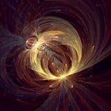 Flowere se développant en spirales relié image stock