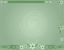 Flowered Background. Green flower Background Stock Images