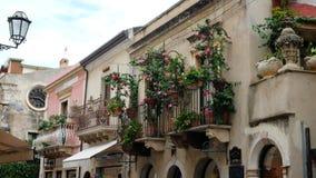 Flowered Balconies royalty free stock image