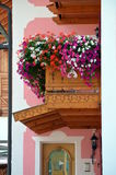 Flowered balcony Stock Image