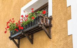 Flowered balcony Royalty Free Stock Images