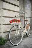 Flowered bike in Italy Royalty Free Stock Photography