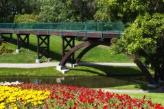 Flowered bridge Stock Photography