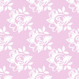 Flowered dotted Seamless Pattern. Vector background with vintage roses Royalty Free Stock Photography