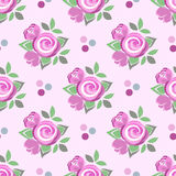 Flowered dotted Seamless Pattern. Vector background with vintage roses Stock Photography