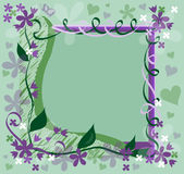 Flowered Frame Stock Images
