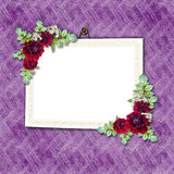 Flowered framework Royalty Free Stock Photo