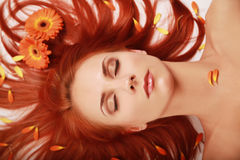 Flowered Hair 2 Royalty Free Stock Photography