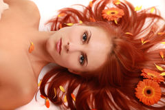 Flowered Hair 3 Royalty Free Stock Photos