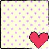 Flowered heart Stock Image