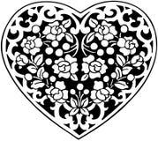 Flowered Heart Motif Stock Image