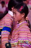 Flowered Hmong girl Stock Photo