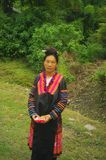 Flowered Hmong woman Royalty Free Stock Photo