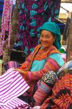 Flowered Hmong woman. Region of Mai Chau Royalty Free Stock Photography